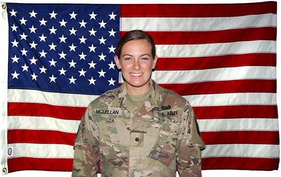 Cadet Lexington McLellan, cadet battalion commander for FSU's Army ROTC Seminole Battalion is a senior majoring in psychology.