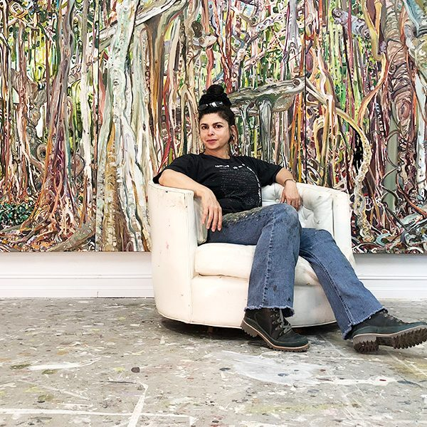 Florida State University'sLilian Garcia-Roig,aninternationally recognized visual artistspecializingin paintingfromthe College of Fine Arts.
