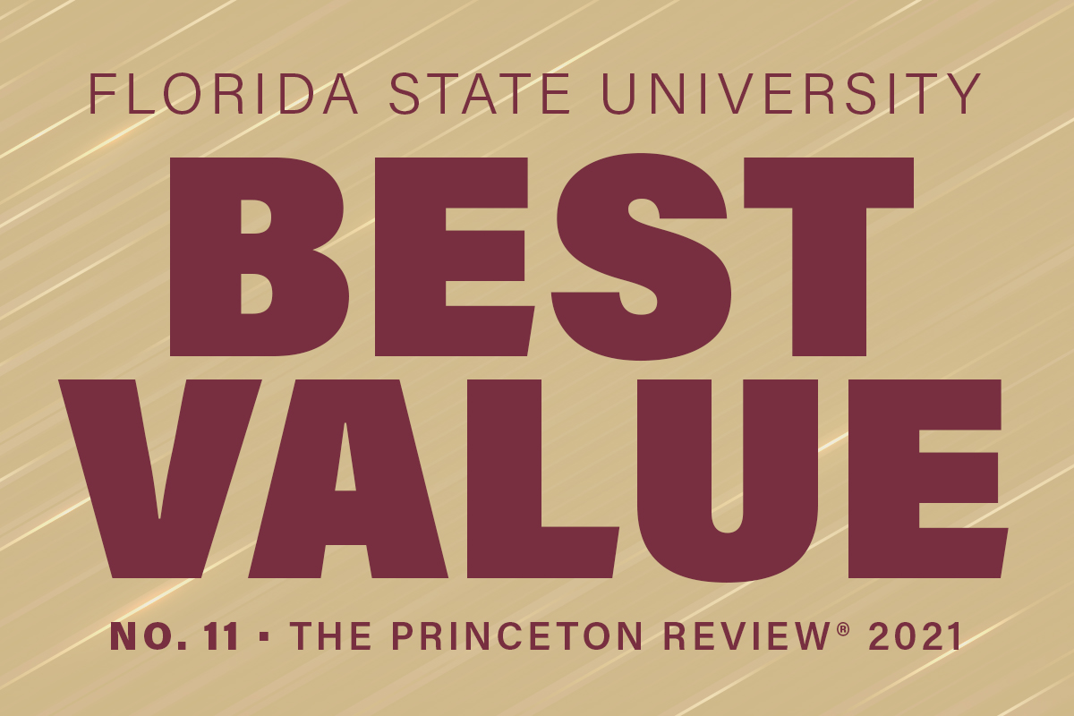 Florida State University Best Value No. 11 The Princeton Review