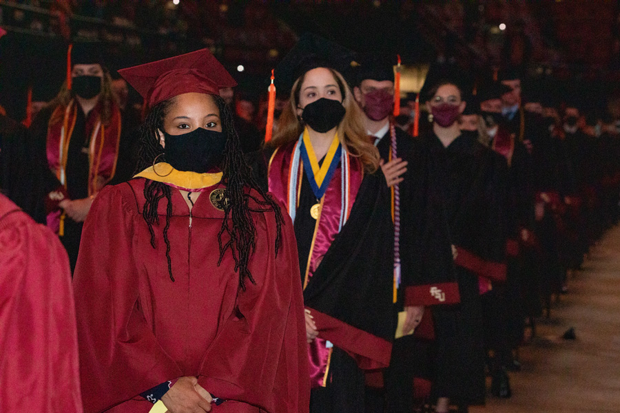FSU Spring Commencement Friday, April 23, 2021. (FSU Photography Services)