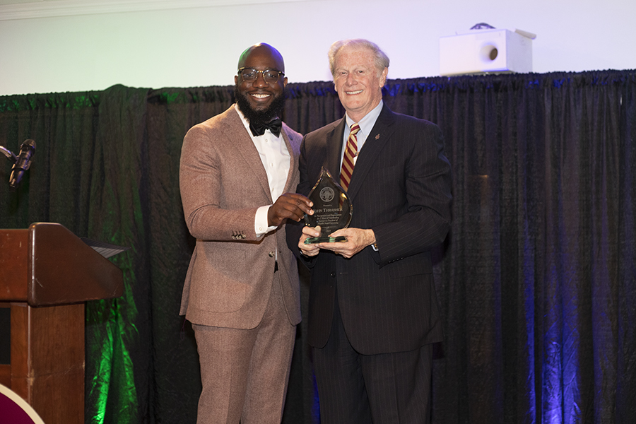 (From L to R) Chris Graham and President John Thrasher (FSU Photography Services)