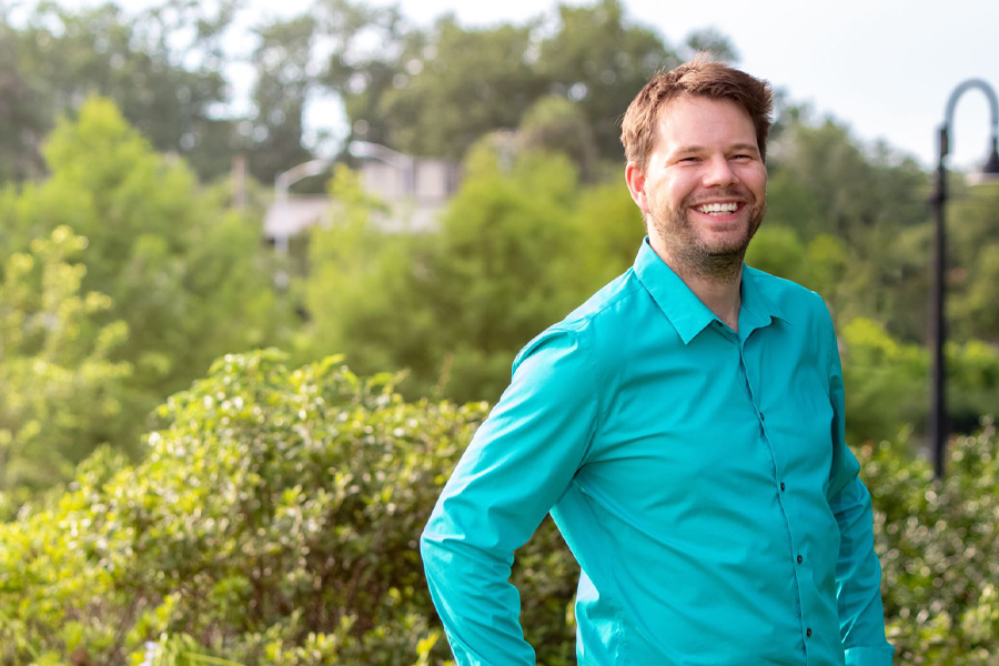 Raphael Kampmann, a teaching faculty member in the FAMU-FSU College of Engineering, and recipient of the 2021 Distinguished Teacher Award.