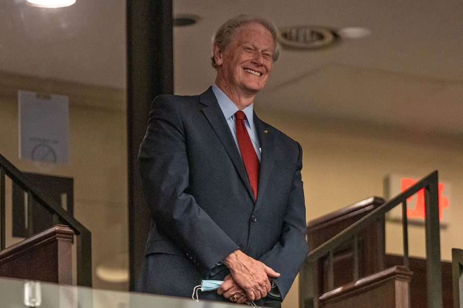 President John Thrasher is honored by the Florida House of Representatives during session Wednesday, April 21, 2021. (Photo courtesy of Florida House of Representatives)