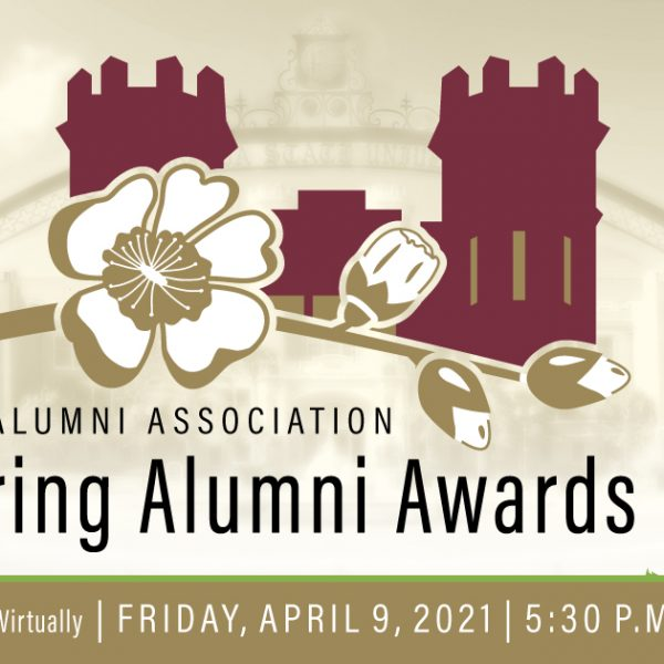 The Spring Alumni Awards will be a hybrid event, featuring opportunities for attendees to join virtually as honorees are recognized in person at 5:30 p.m. Friday, April 9.