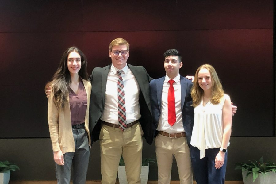 Satya Simpson, Harry Hirst, Mark Geller and Kaitlyn Killeen were amongst the students to have a big showing at the Society for Advancement of Management (SAM) International Collegiate Business Skills Championship.