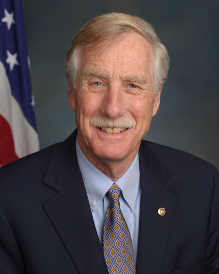 U.S. Sen Angus King of Maine, is one of just two independants in the Senate.