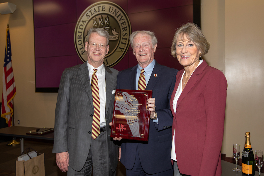 Bill and Paula Smith were awarded the Mores Torch award, which symbolizes respect for customs, character and tradition.