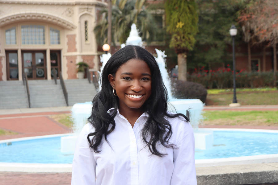 Abril Hunter, a rising Florida State University junior from Belleville, Illinois. Hunter received an Ernest F. Hollings Undergraduate Scholarship from the National Oceanic and Atmospheric Administration. (FSU Photography Services)