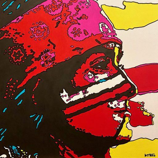 """""""Osceola."""" 2021. Acrylic on Canvas. 24"""" x 24"""""""