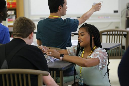 Through a partnership between FSU's College of Education and Leon County Schools, students in the special education program and autism spectrum disorder master's and certificate programs worked with attendees of the Adult Community Education (ACE) Summer Institute. (FSU College of Education/Jennie Kroeger)