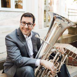 Justin Benavidez, professor of tuba and euphonium in the College of Music.