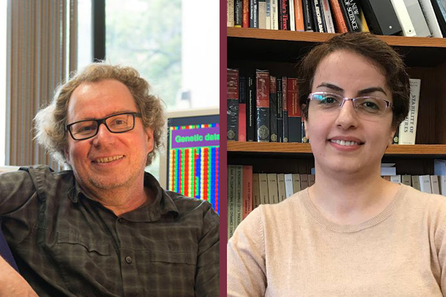 From left, Peter Beerli, a professor with the Department of Scientific Computing in the FSU College of Arts and Sciences, and former FSU postdoctoral researcher Somayeh Mashayekhi. (Florida State University)