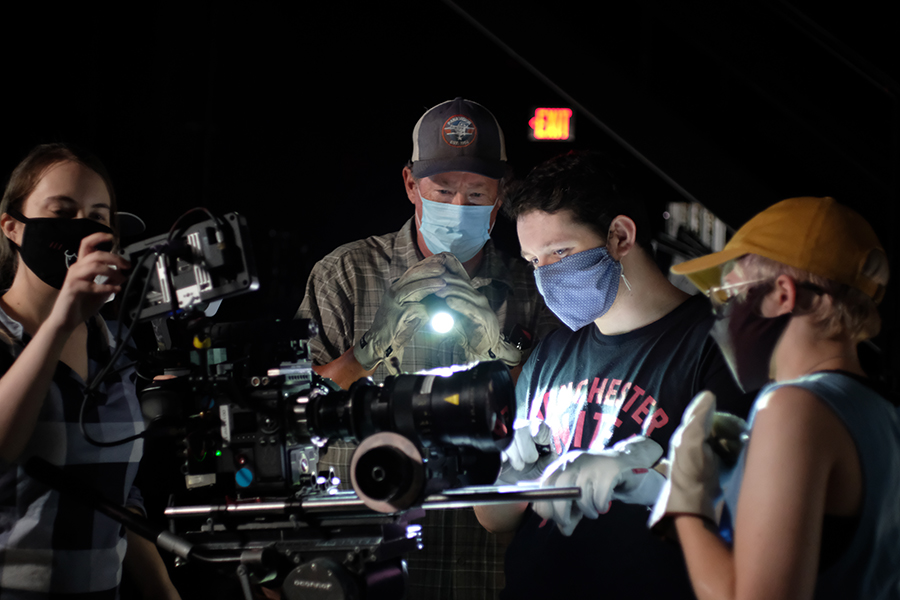 Faculty member Mark Vargo, ASC, teaches cinematography to masters students