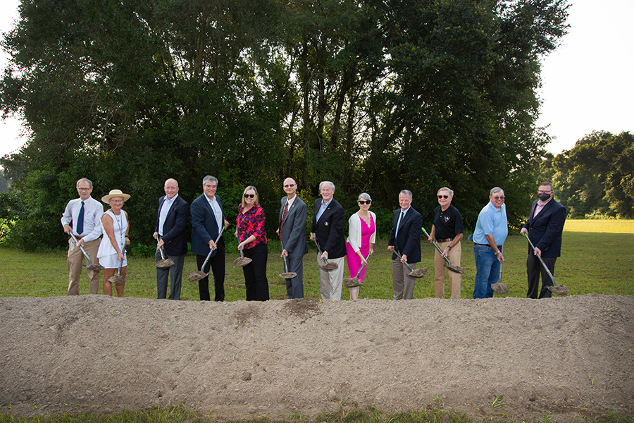 FSU officials broke ground on the new Interdisciplinary Research and Commercialization Building on Aug. 2, 2021.