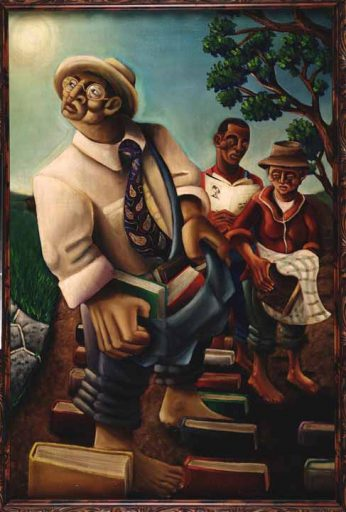 """Dunson The Cultivator: The Kinseys are the subjects in artist Samuel L. Dunson Jr.'s """"The Cultivators, 2000."""""""