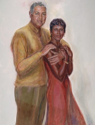 """Oil on Canvas: """"Bernard and Shirley Kinsey, 2002"""" is an oil on canvas by Artis Lane."""