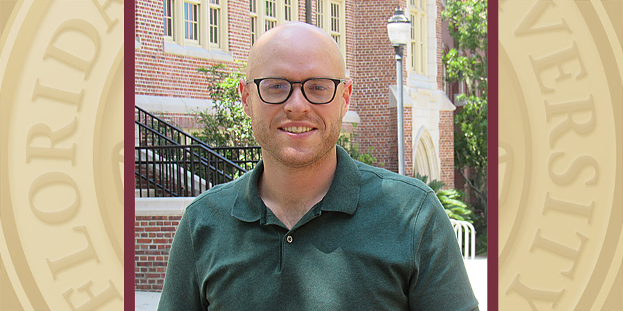Aaron Rodriguez, doctoral candidate in FSU's History of Text Technologies Program. (Jack Clifford)