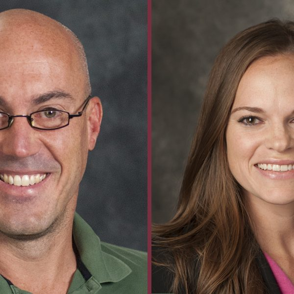 From left, Jim McNulty, a Department of Psychology professor and director of the department's social psychology program, and Andrea Meltzer, an associate professor in the Department of Psychology.
