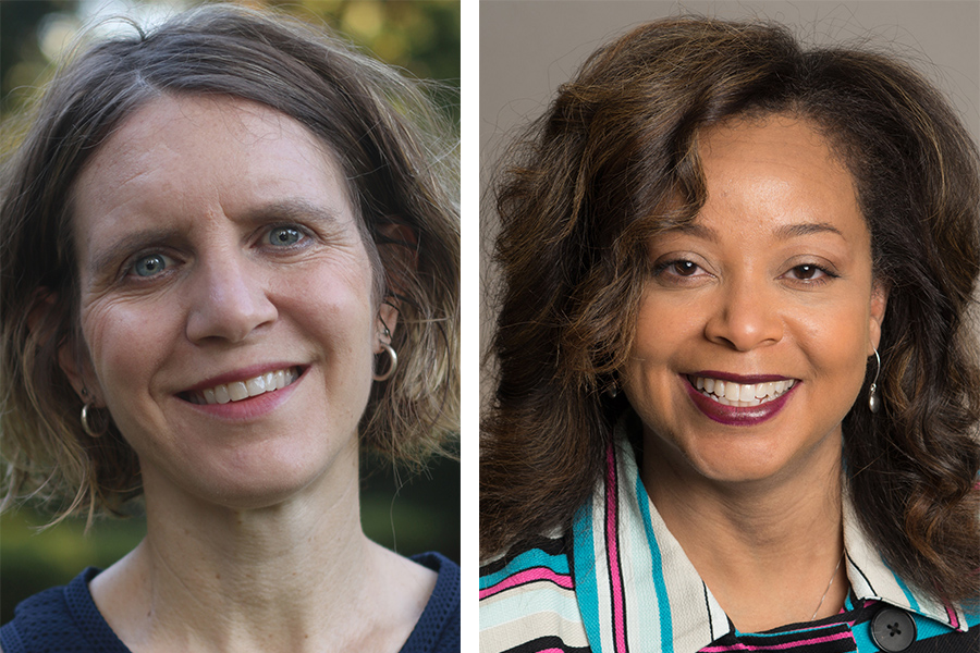 Melissa Radey, a professor in the College of Social Work, and Joedrecka Brown Speights, a professor in the College of Medicine