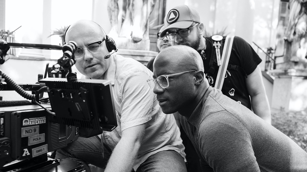James Laxton and Barry Jenkins on the set of The Underground Railroad