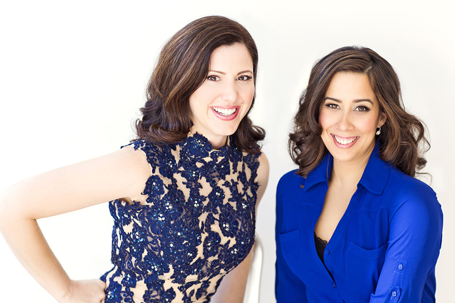 "Photo caption: ""Sing for Hope"" founders Camille Zamora and Monica Yunus. Photo courtesy of Fay Fox."